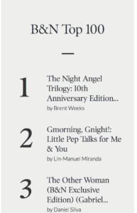 Brent Weeks, Barnes & Noble, Night Angel, pre-orders