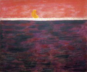 """Tangerine Moon and Wine Dark Sea,"" Milton Avery, 1959."