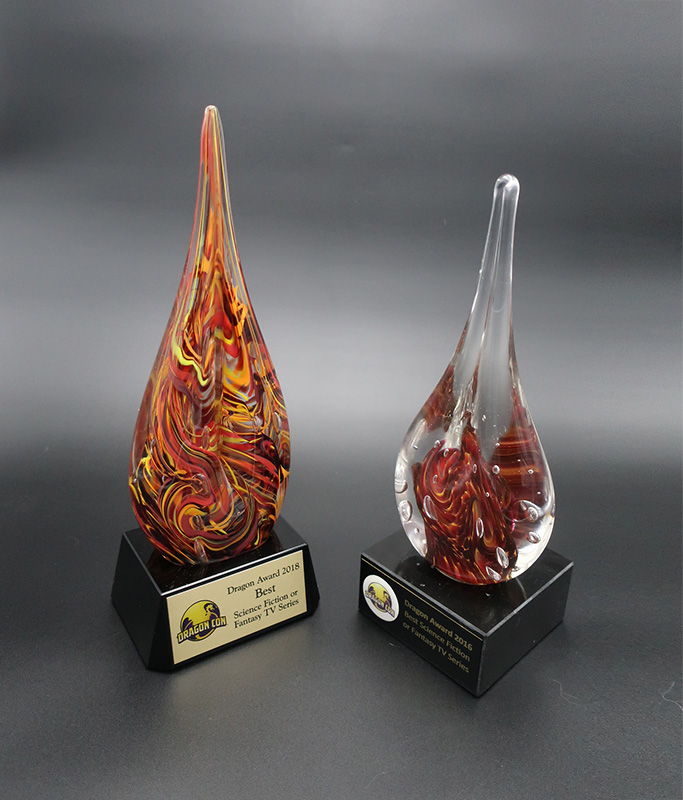 Dragon Award trophies