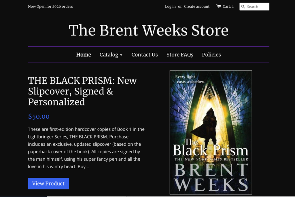 The Brent Weeks Shopify Store is OPEN!