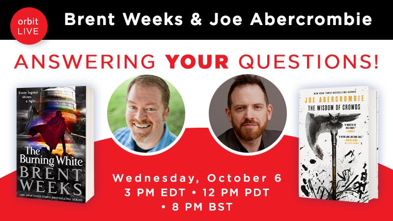 <div></noscript>Brent & Joe Abercrombie on Crowdcast October 6</div>